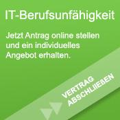 Banner mit Link zur Anfrage einer IT-Berufsunfähigkeitsversicherung