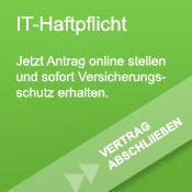 Banner mit Link zum Vertragsabschluss der IT-Haftpflicht