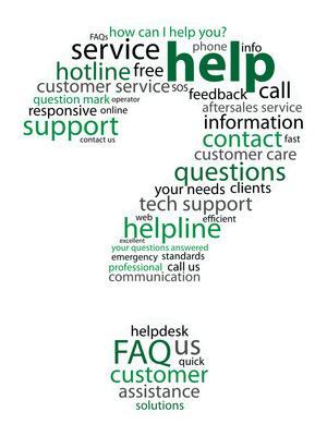 Fragezeichen grün für FAQ