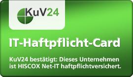 KuV24 - IT-Haftpflicht-Card - Klicken Sie hier um diese Versicherung jetzt zu validieren